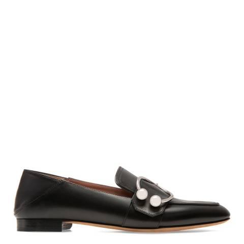 BALLY Black Leather Malinda Loafers