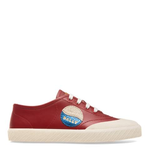BALLY Red Leather Scarlett Trainers