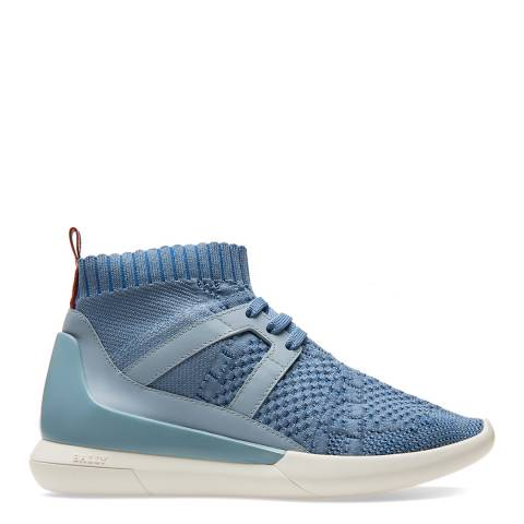 BALLY Blue Canvas Aveline Trainers