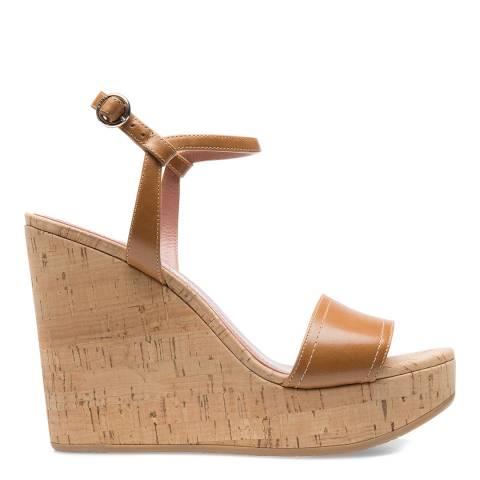 BALLY Tan Patent Leather Clivya Wedge Sandal