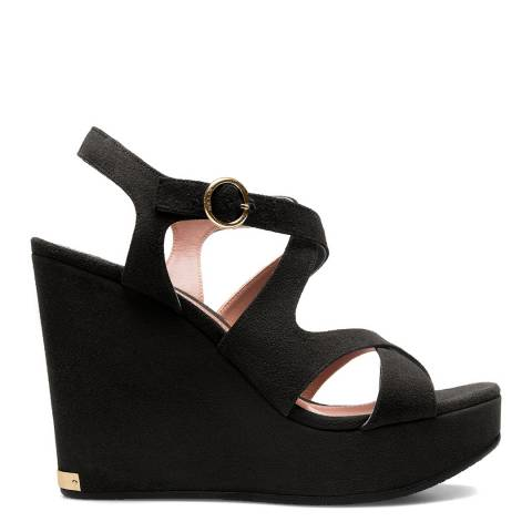 BALLY Black Suede Camelye Wedge Sandal