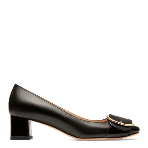 BALLY Black Leather Clarie Pump