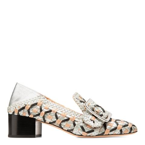 BALLY Silver Multi Leather Janelle Pump