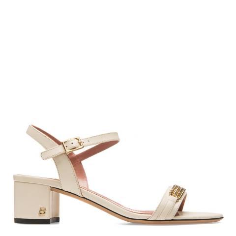 BALLY Cream Leather Coralise Sandal