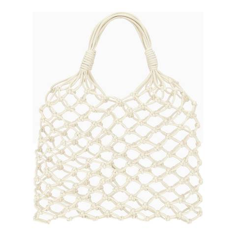 Stella McCartney Ivory Knotted Shoulder Bag