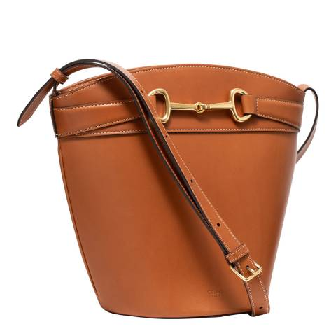Celine Tan Leather Crossbody Bag