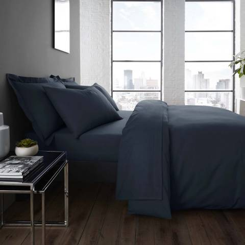 Serene Easycare Super King Deep Fitted Sheet, Denim