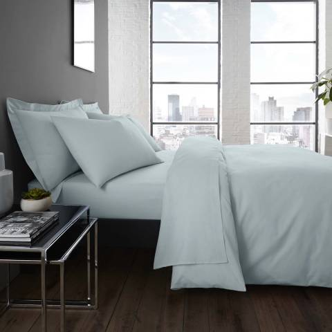Serene Easycare Single Duvet Cover Set, Duck Egg