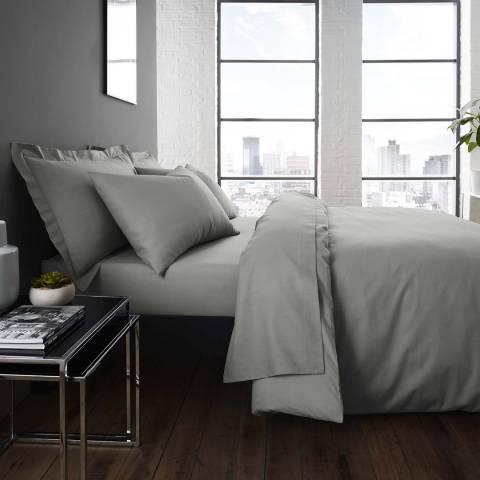 Serene Easycare Pair of Housewife Pillowcases, Grey