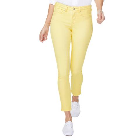 NYDJ Yellow Alina Legging Stretch Jeans