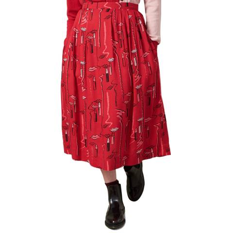 Emily and Fin Lipstick Scribble Faye Long Skirt