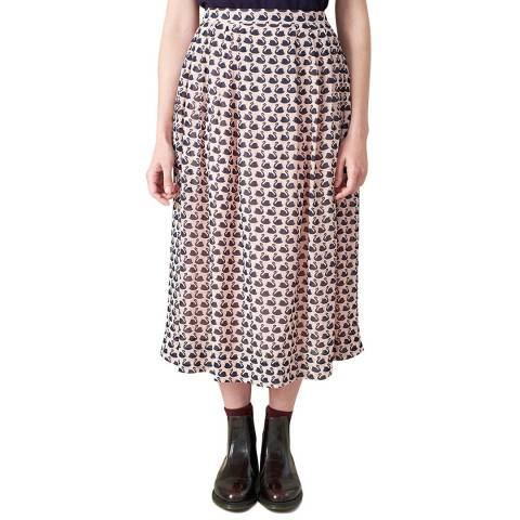 Emily and Fin Pink Swans Faye Long Skirt