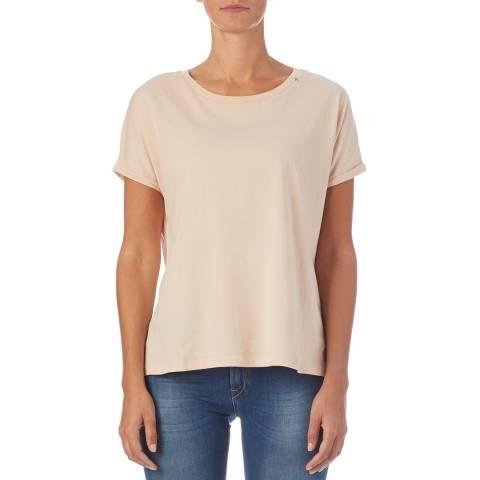 Replay Pink Back Print Cotton T-Shirt