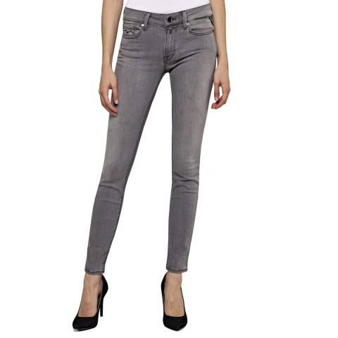 Replay Mid Grey Luz Skinny Stretch Jeans