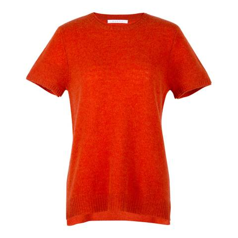 Duffy NY Red Cashmere Double trim Tee