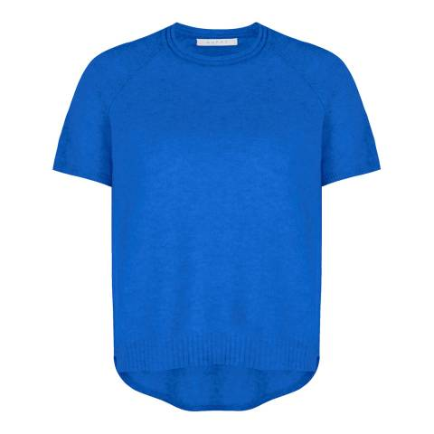 Duffy NY Cornflower Blue Cashmere Textured Tee