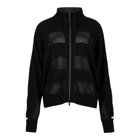 Duffy NY Charcoal/Ivory Mesh Lounge Jacket