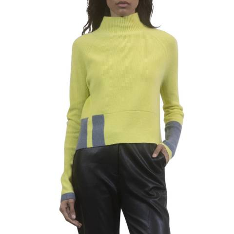 Duffy NY Yellow/Dark Grey Cashmere Jumper