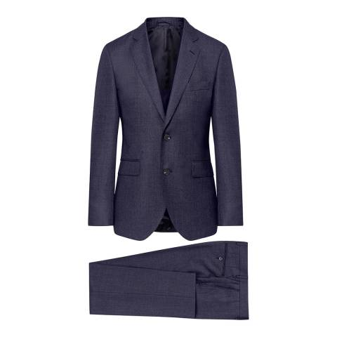 Hackett London Midnight Birdseye Wool Suit