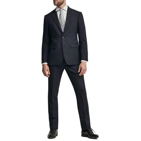 Hackett London Navy Mayfair Plain Weave Suit