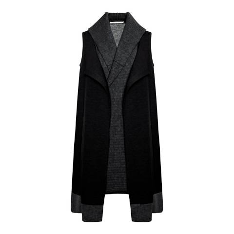 Duffy NY Black/Charcoal Sleeveless Cashmere Waistcoat