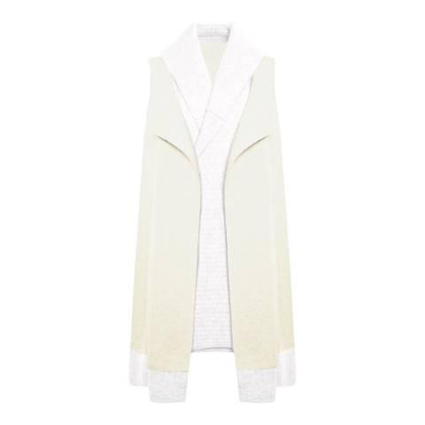 Duffy NY Cream Sleeveless Cashmere Waistcoat
