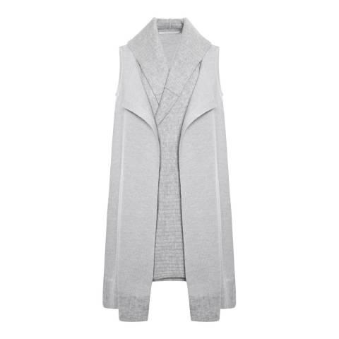 Duffy NY Heather Grey/Mist Sleeveless Cashmere Waistcoat
