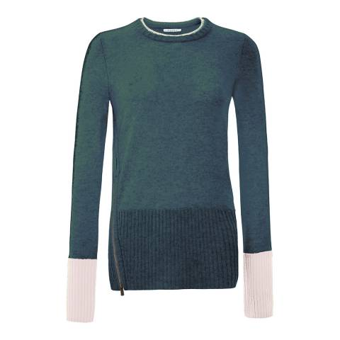 Duffy NY Green Crew Neck Cashmere Jumper
