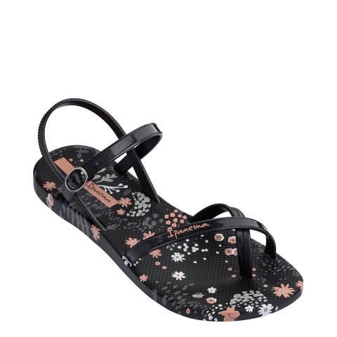 Ipanema Kids Black Flower Sandals