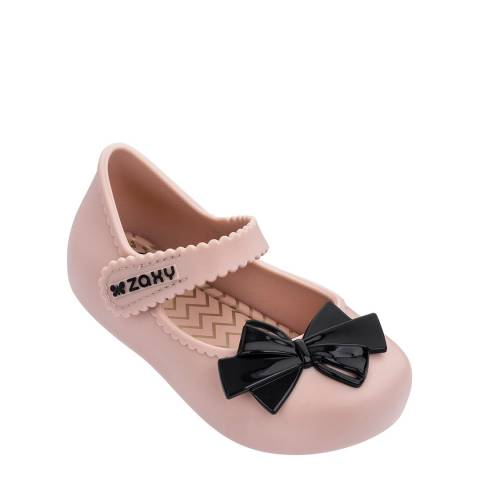 Zaxy Baby Nude/Black Bow Shoes