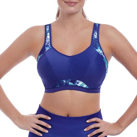 Freya Ocean Fever Blue Epic Crop Top Sports Bra With Moulded Inner