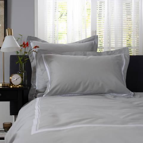 The Lyndon Company Hardwick Pair of Oxford Pillowcases, Grey/White