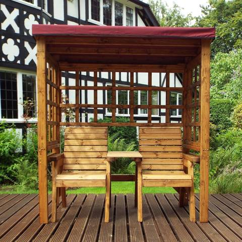 Charles Taylor Burgundy Henley Twin Seat Arbour