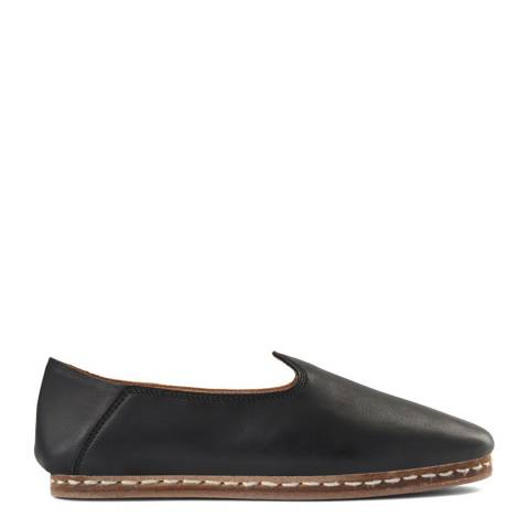 Shoe The Bear Black Leather Khalo Slipper Flats