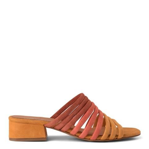 Shoe The Bear Orange Suede Cala Multi Heel Sandal