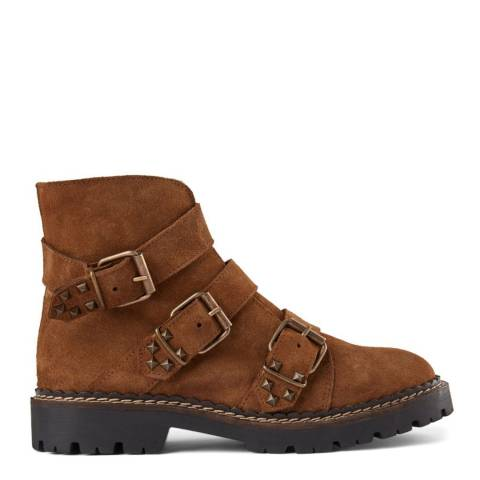 Shoe The Bear Brown Suede Hailey Buckle Boot