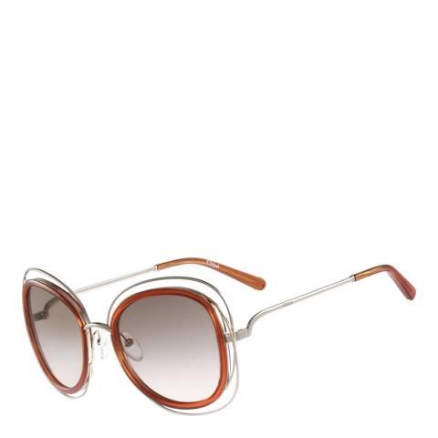 Chloe Women's Gold/Caramel Sunglasses 56mm
