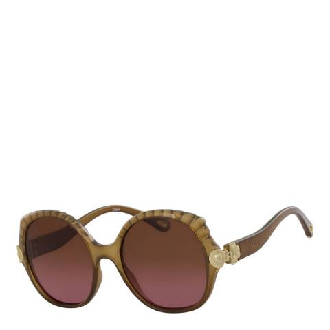 Chloe Women's Brown Sunglasses 56mm