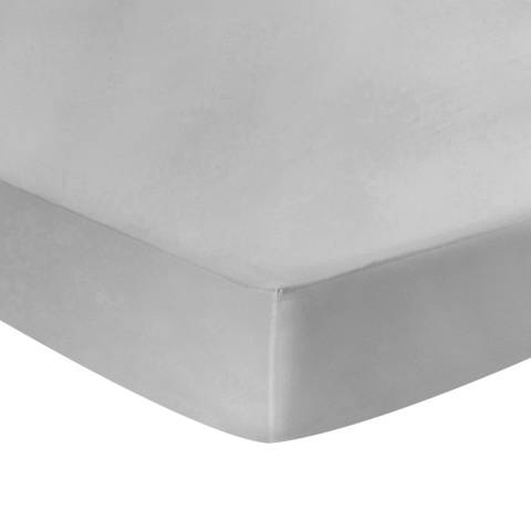 N°· Eleven Deep Single Fitted Sheet, Silver