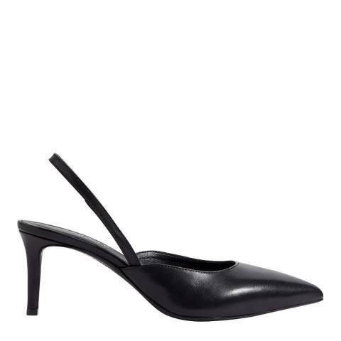 Jigsaw Black Neze Slingback Leather Heels