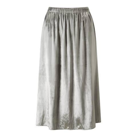 Jigsaw Silver Midi Skirt