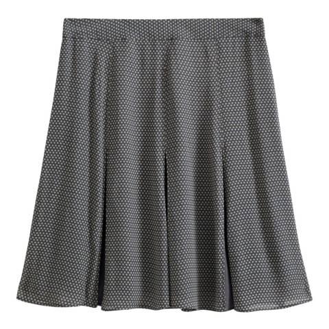 Jigsaw Grey Ditsy Daisy Godet Flippy Skirt