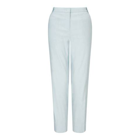 Jigsaw Blue Portofino Linen Stretch Trousers