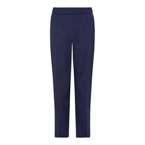 Jigsaw Navy Gabardine Slim Stretch Trousers