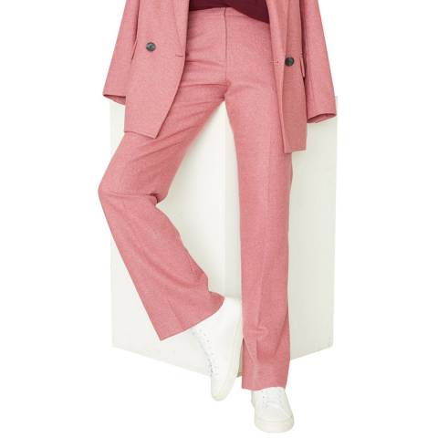 Jigsaw Pink Flannel Straight Trousers