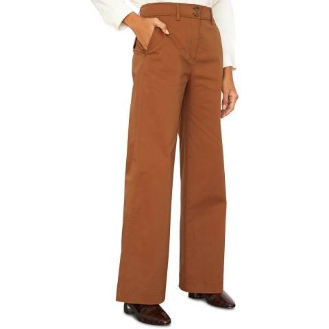 Jigsaw Rust Fine Drill Cotton Stretch Wide Trousers