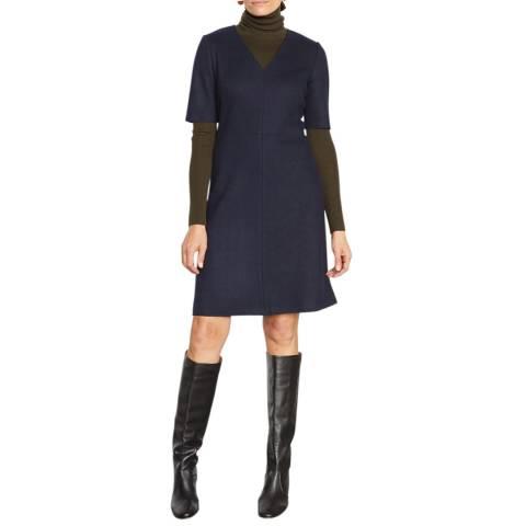 Jigsaw Navy Wool Shift Dress