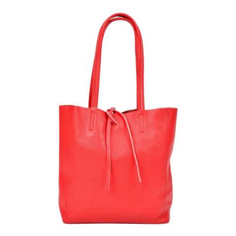 Sofia Cardoni Red Leather Shoulder Bag