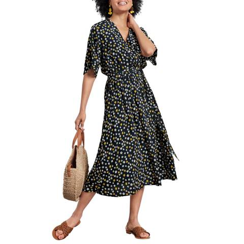 hush Black/Multi Short Sleeve Lilium Dress