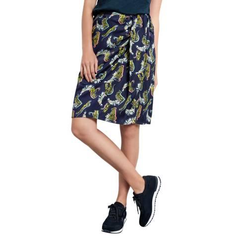hush Tiger Print Side Knot Skirt